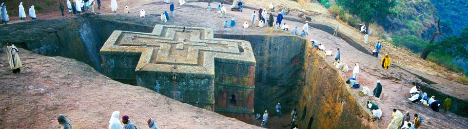 Felsenkirche von Lalibela auf Äthiopien Gruppenreise
