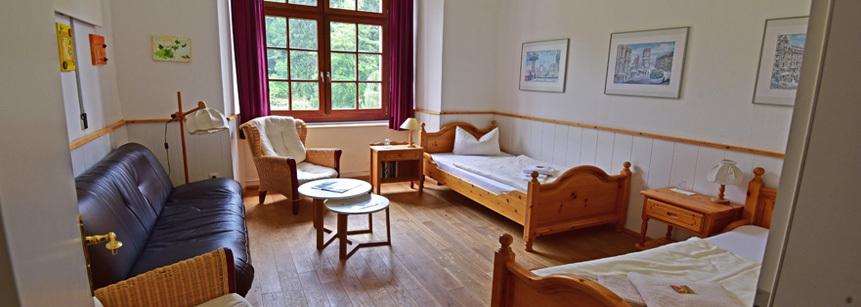 Gästezimmer auf Schloss Gimborn