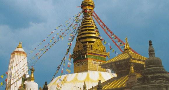 Stupa von Bodnath in Kathmandu in Nepal