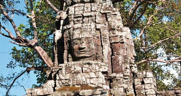 Bayon Tempel in Angkor auf einer Kambodscha Reise