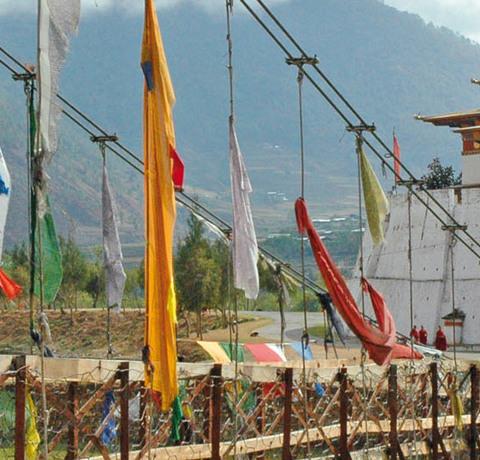Bhutan Dzong Kloster Punaka