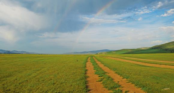 Wir durchqueren die schier unendlichen Weiten der Mongolei