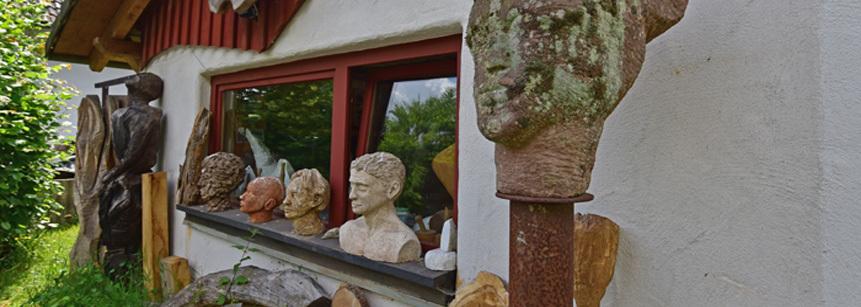 Bildhauerbesuch in Gummeroth