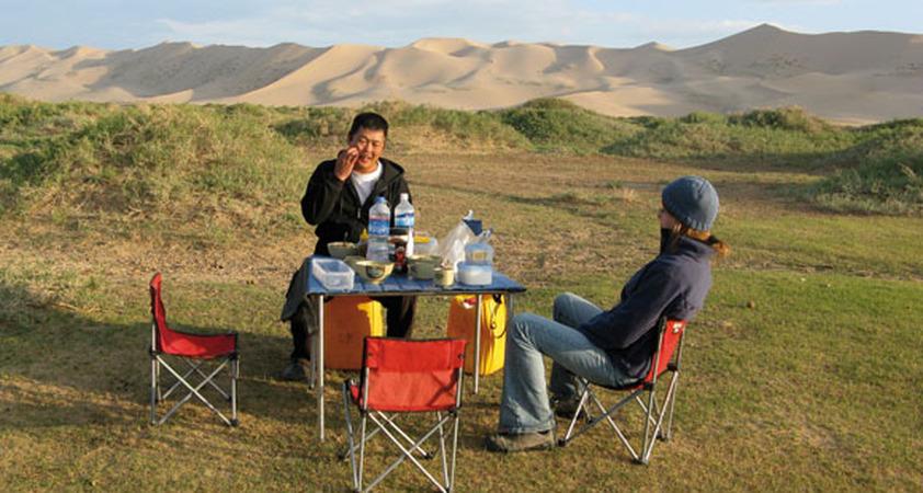 Picknick während unserer Mongolei Reise