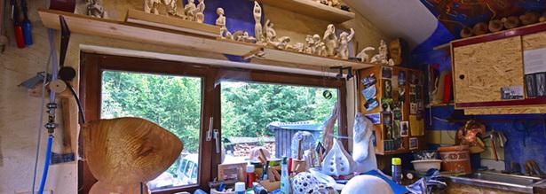Bildhauerwerkstatt in Gummeroth