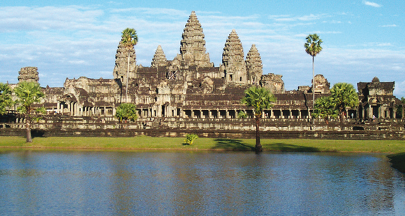Angkor Wat Tempel bei Siem Reap in Kambodscha auf einer Kambodscha Reise