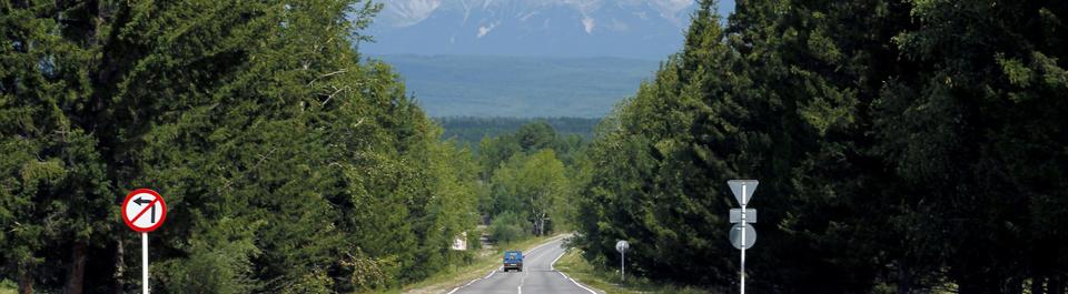 Strasse auf Sibirien Reise in Russland