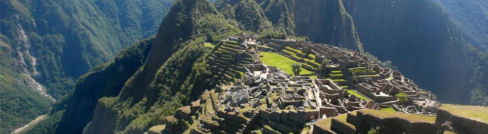 Inkastadt Machhu Picchu in Peru