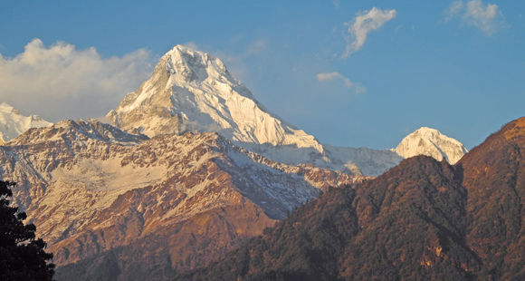 Annapurna Peak in Nepal