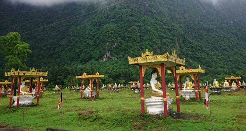 Lumbini Gärten in Hpa An in Myanmar