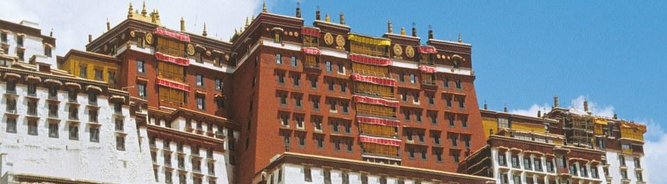 Potala Palast in Lhasa auf einer Tibet Reise