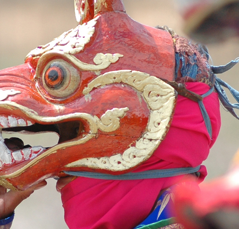 Klosterfest Maskentanz Bhutan