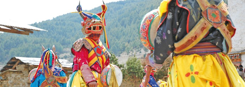 Jedes Jahr findet das Klosterfest in Punaka statt