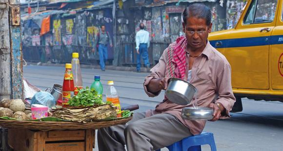 Indische Garküche auf einer Indien Reise