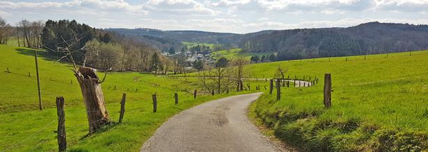 Wanderweg im Oberbergischen Land