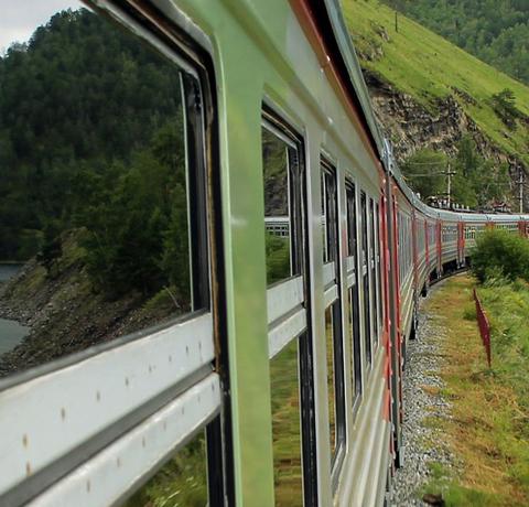 Fahrt mit der Transsibirischen Eisenbahn von Moskau nach Irkutsk