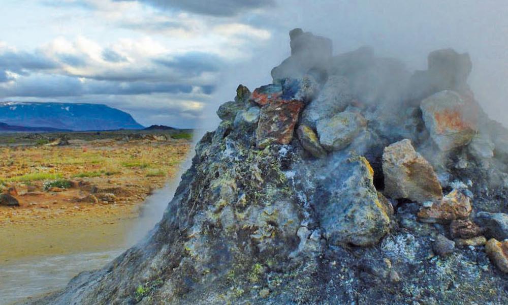 Geothermalgebiet bei Námaskarð auf Island am Mývatn