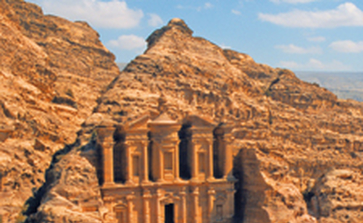 Tempel von Petra in Jordanien im wadi Mujib