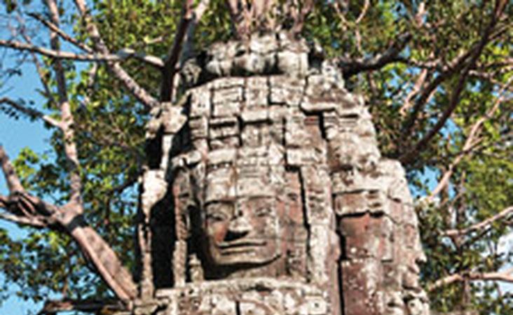 Tempel von Angkor nahe Siem Reap in Kambodscha