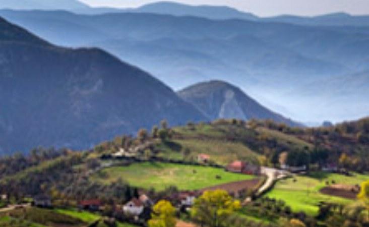 Ausblick auf einer Serbien Reise